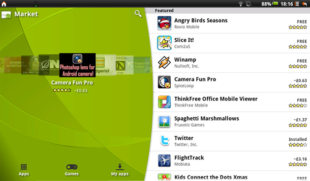 android market tablet Android Market Gets a New Look