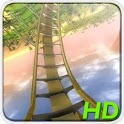 Roller Coaster At Sunset HD